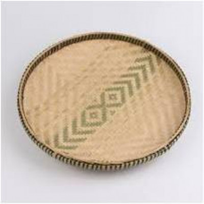 Handwoven Bamboo Winnowing Tray(#1003)-gallery-0