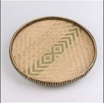 Handwoven Bamboo Winnowing Tray(#1004)-gallery-0