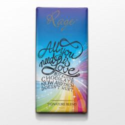 Rage All You Need is Love Dark Chocolate - 90 Grams(#1012) - getkraft.com