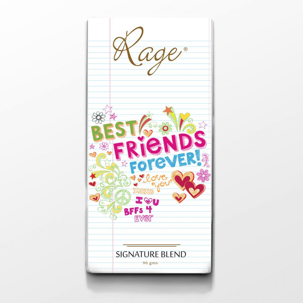 Rage Best Friends Forever Note Book Bar Chocolate - 90 Grams(#1014)-gallery-0