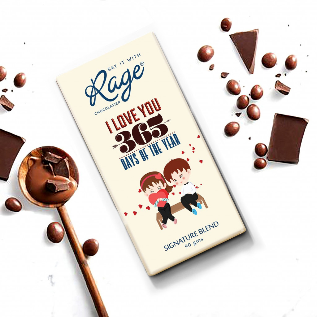 Rage Love You 365 Days Signature Chocolate - 90 Grams(#1019)-gallery-0