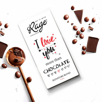 Rage I Love You More Than Chocolate Signature Chocolate - 90 Grams(#1021)-gallery-0