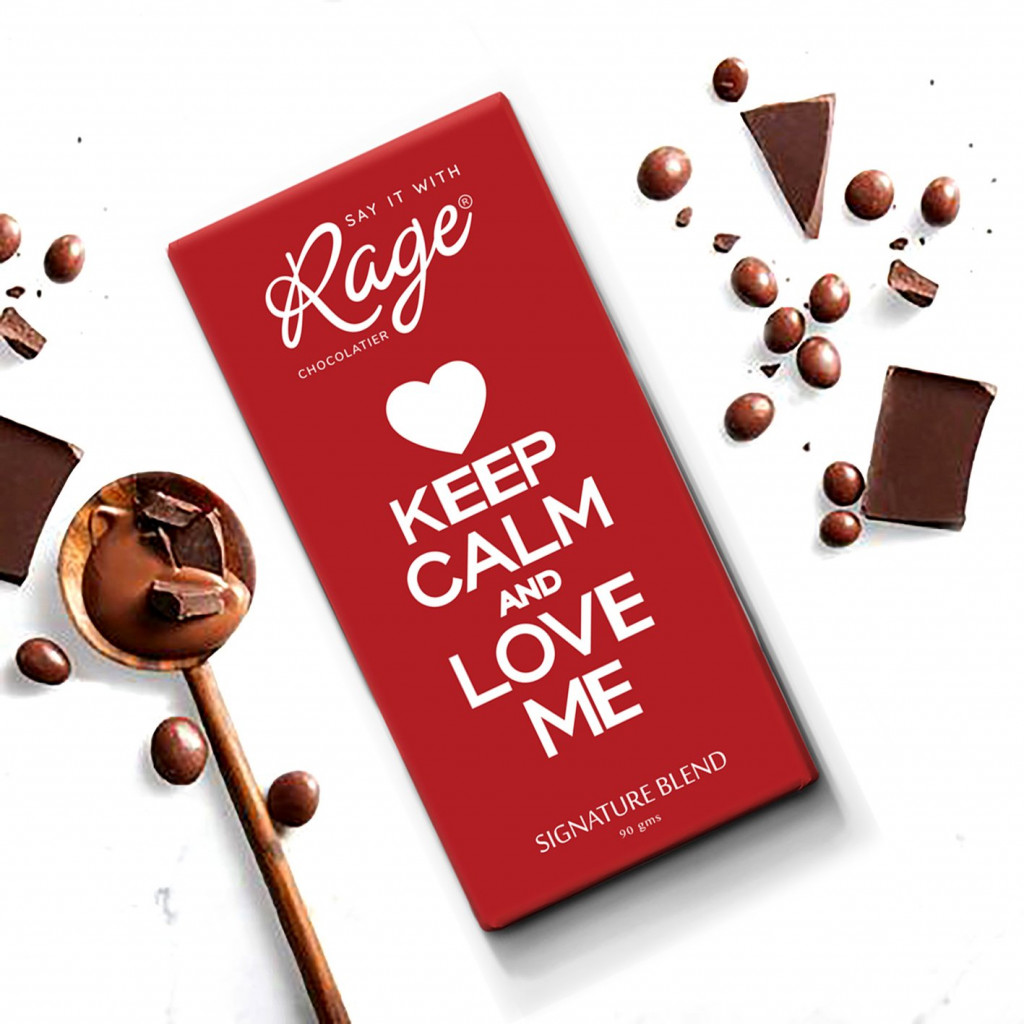 Rage Keep Calm and Love Me Signature Chocolate - 90 Grams(#1022)-gallery-0