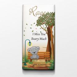 Rage I Miss You Dark Almond Chocolate - 90 Grams
