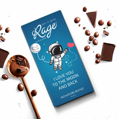 Rage I Love You To The Moon Signature Chocolate Bar 90 Grams(#1025)-gallery-0
