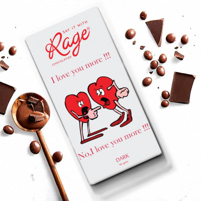 Rage I Love You More Dark Chocolate 90 Grams(#1026)-gallery-0