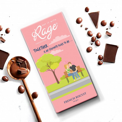 Rage Nuts About You French Biscuit Chocolate 90 Grams(#1027)-gallery-0
