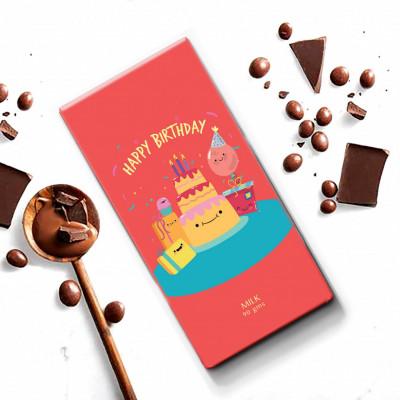 Rage Happy Birthday Chocolate 90 Grams(#1028)-gallery-0