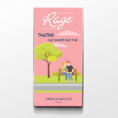 Rage Together is My Favorite Place French Biscuit Chocolate Bar - 90 Grams(#1030)-gallery-0