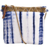 Shibori Clutch bag crossbody bag Hand Embroidery ( Blue )(#1069) - getkraft.com