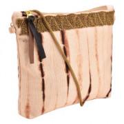 Shibori Clutch bag crossbody bag Hand Embroidery ( Brown )(#1070) - getkraft.com