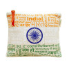 Pouch Canvas pouch for women Eco Friendly Tricolor Canvas Pouch(#1072)-thumb-0