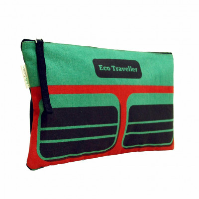 Pouch for womenCanvas pouch (Green and Black)(#1073)-gallery-0