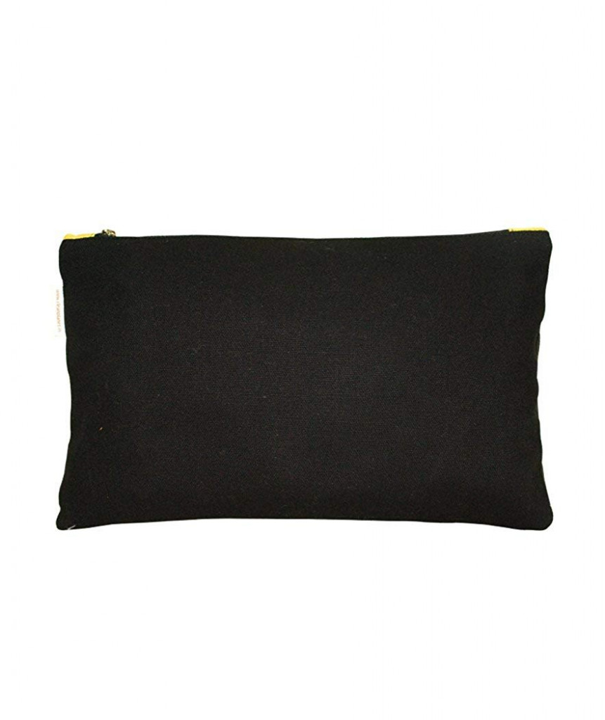 PouchWomens Pouch (Black and Yellow)(#1075)-gallery-1