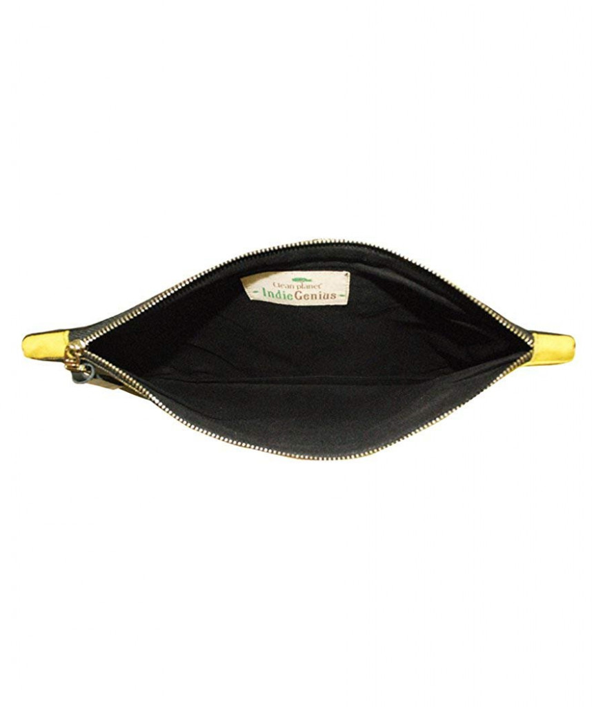 PouchWomens Pouch (Black and Yellow)(#1075)-gallery-2