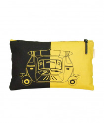 PouchWomens Pouch (Black and Yellow)