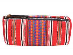 Handcrafted Multipurpose Travel Pouch - Vibrant Red
