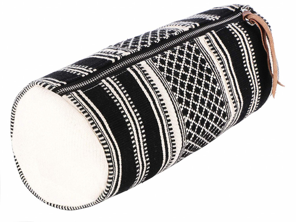 Handcrafted Multipurpose Travel Pouch - BlackWhite(#1078)-gallery-0