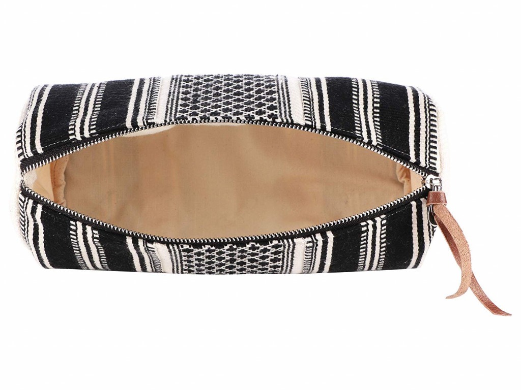 Handcrafted Multipurpose Travel Pouch - BlackWhite(#1078)-gallery-3