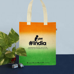 Tote Bag Womens Tote Bag IndiaPositive Challenge Tote ( Tricolor variant )(#1086) - getkraft.com