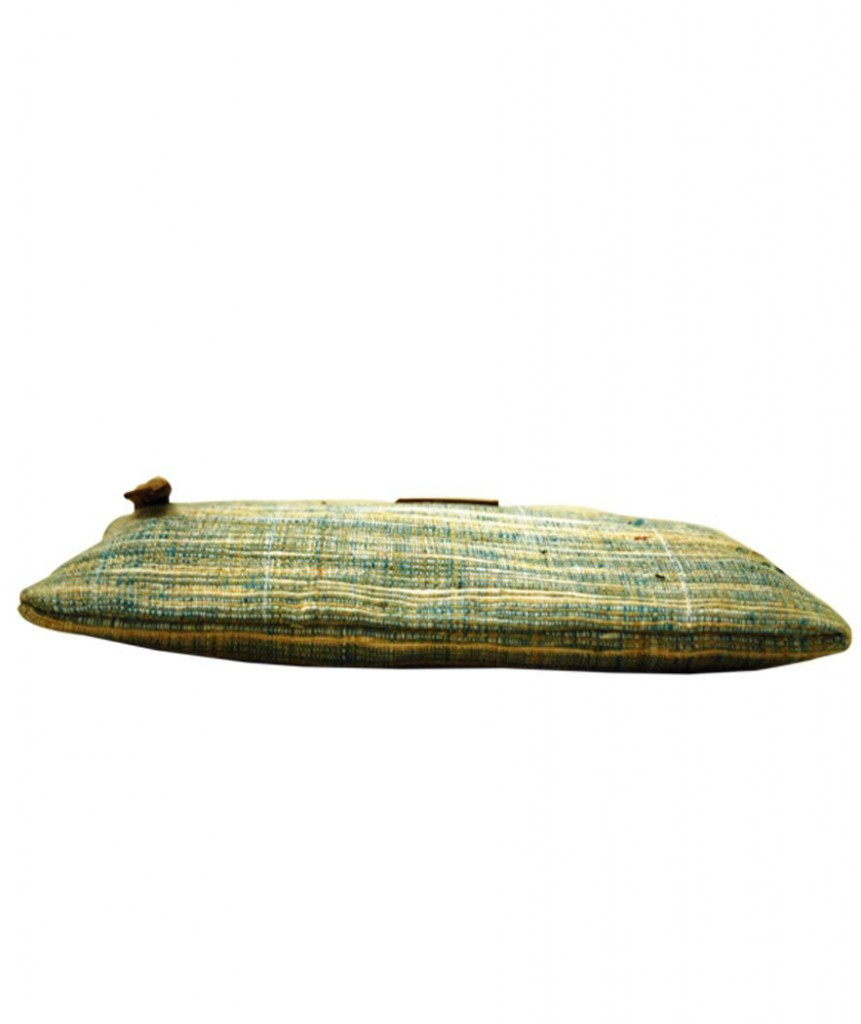 Pouch Handcrafted Khadi PouchClutch for Women CasualToiletryTravelCosmetic Eco-friendly Green(#1090)-gallery-1