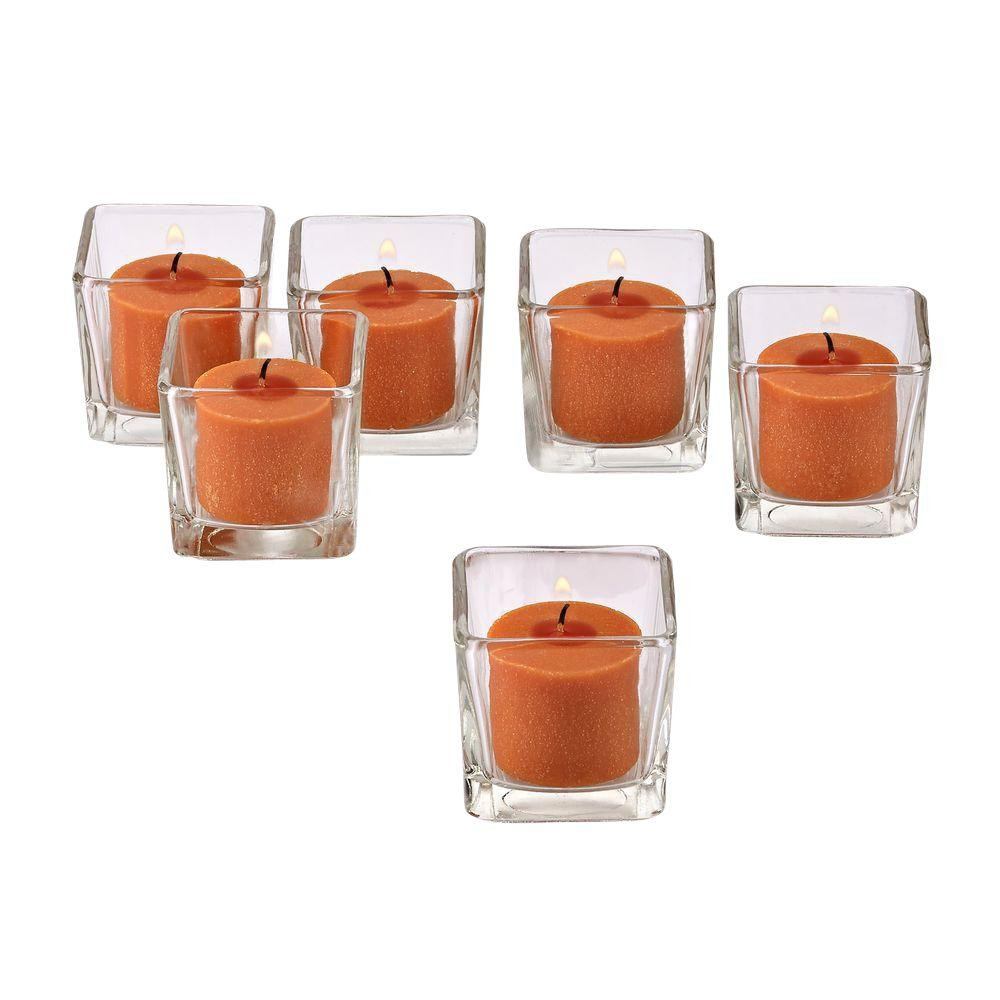 Twinkly Square Votive Aroma Candle Set of 4(#1092)-gallery-3