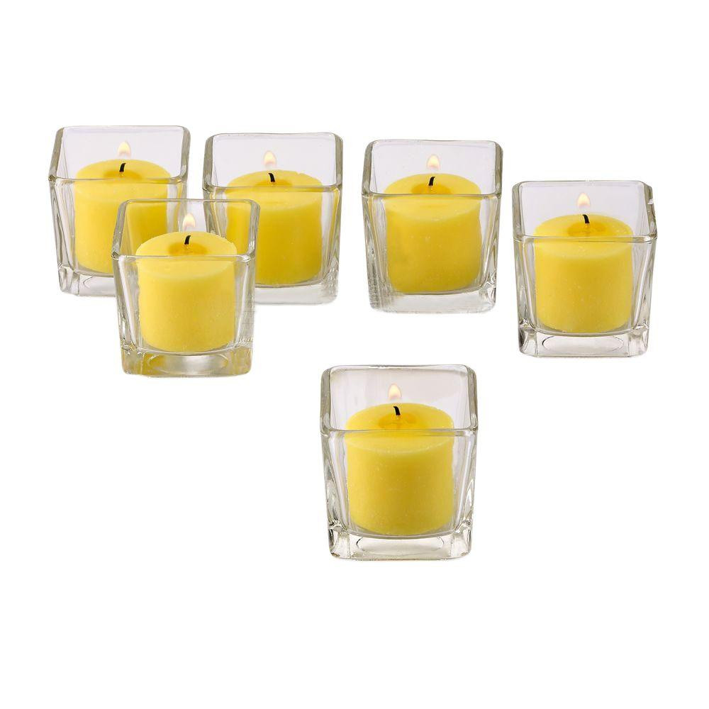 Twinkly Square Votive Aroma Candle Set of 4(#1092)-gallery-4