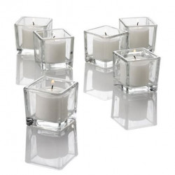 Twinkly Square Votive Aroma Candle Set of 4