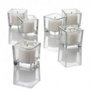 Twinkly Square Votive Aroma Candle Set of 4(#1092) - getkraft.com