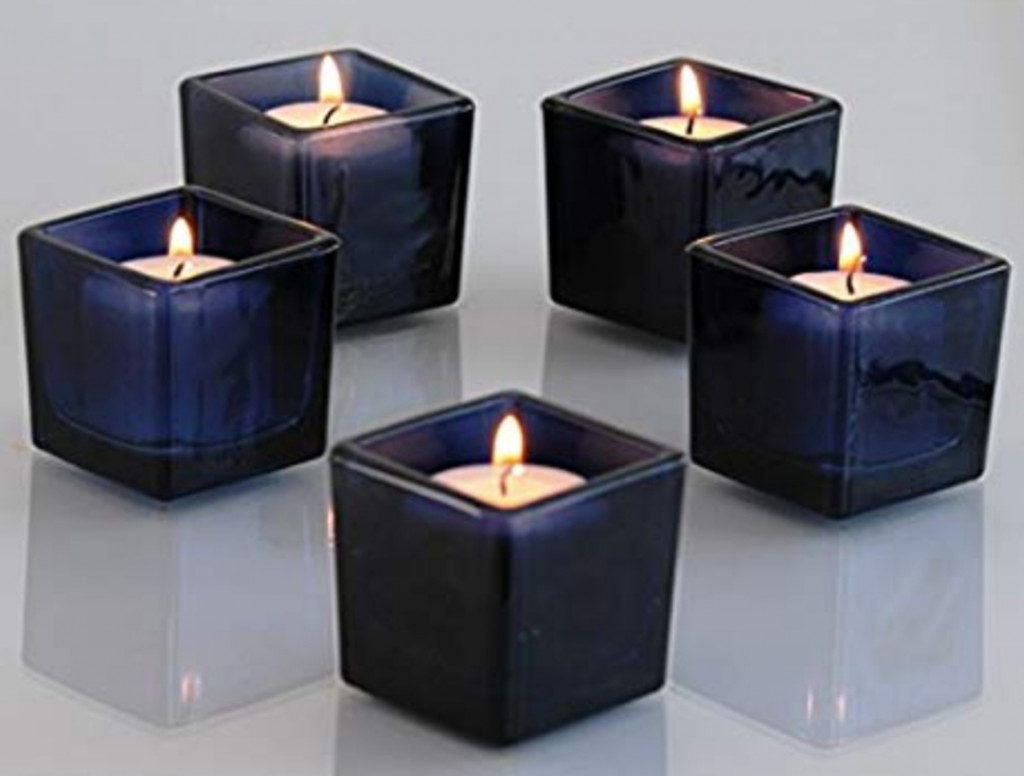 BlueBerry Square Votive Aroma Candle Set of 4(#1094)-gallery-0