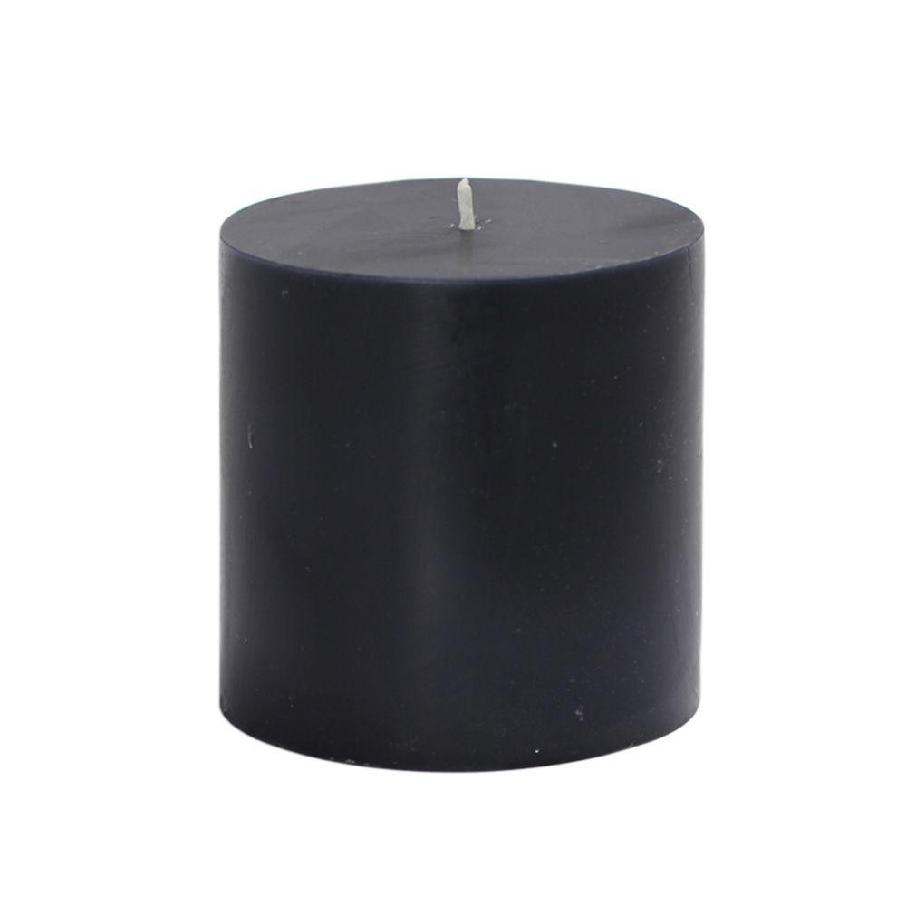 Black Beauty Aroma Pillar Candle (Small)(#1096)-gallery-0