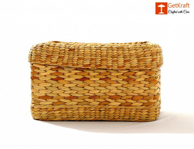 Natural Straw Tissue Box(#1104)-gallery-0
