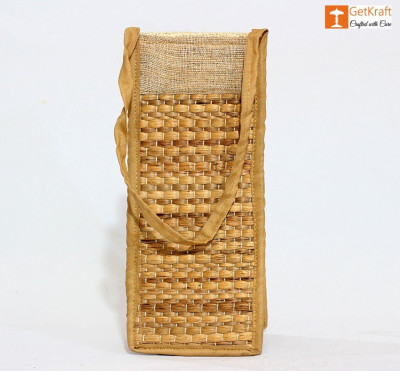 Jute and Straw Bottle Holder(#1114)-gallery-0