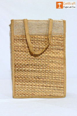 Jute and Straw Tiffin Bag(#1115)-gallery-0