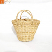 Natural Straw Kauna V Shaped Bag(#1127) - getkraft.com