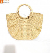 Natural Straw Kauna (U) Hand Bag(#1128) - getkraft.com