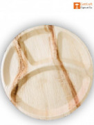 Disposable Areca Leaf Round Plate(#1129) - getkraft.com