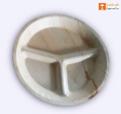 Areca Leaf Round Plate(#1135)-gallery-0