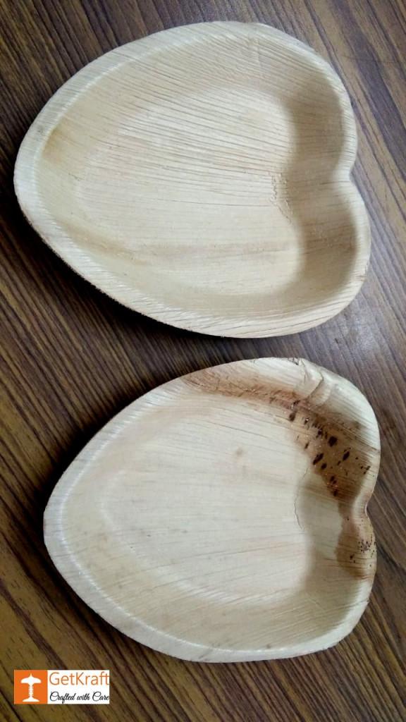 Areca Leaf Heart Palm Plate(#1136)-gallery-0