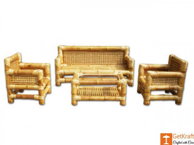 Authentic Bamboo Sofa Set with Table(#114)-gallery-0