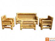 Authentic Bamboo Sofa Set with Table(#114) - Getkraft.com