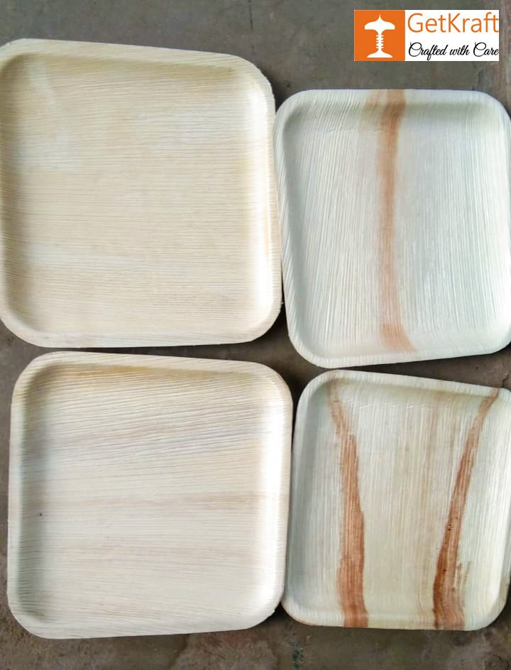 Areca Disposable Palm Leaf Square Plate(#1140)-gallery-0