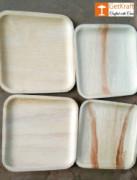 Areca Disposable Palm Leaf Square Plate(#1140) - getkraft.com