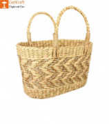 Natural Straw Kauna Grass Tote Bag(#1147) - getkraft.com