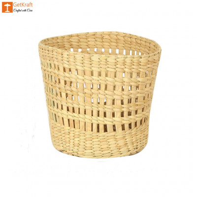 Natural Straw Kauna Grass Mini Basket(#1148)-gallery-0