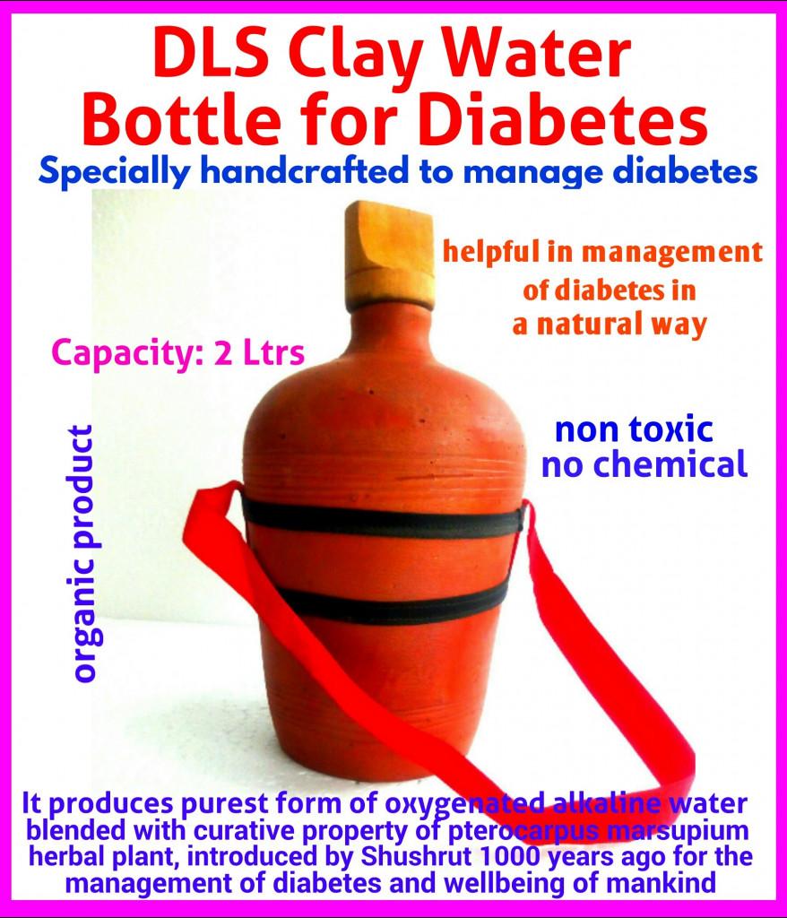 Diabetes Clay Bottle(#1149)-gallery-0