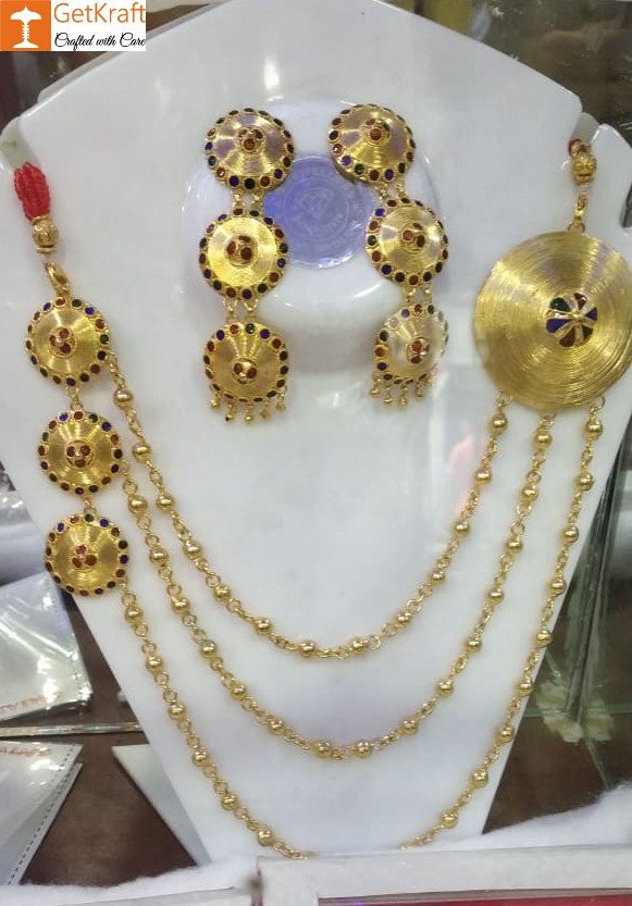 Assamese Traditional Jewellery Set For Women Of all Ages(#1153)-gallery-0