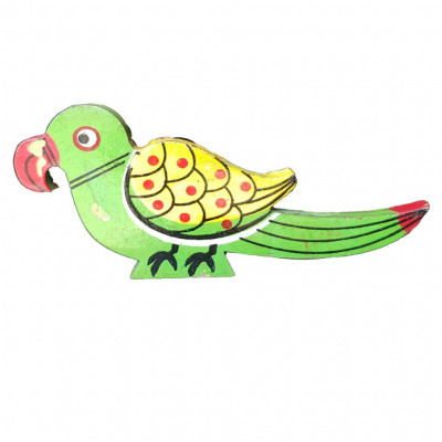 Weavers Direct Traditional Indian Handicraft Wooden Toys for Kids and Great for Christmas TreeHouse DecorationCan be Used in Garments Accessories Elegant Parrot Design (Pack of 2)(#1169)-gallery-0