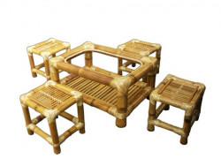 Tea Table Set - Set of 4 stools and table(#117) - getkraft.com
