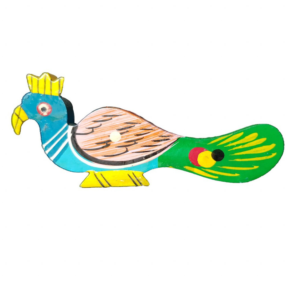 Weavers Direct Traditional Indian Handicraft Wooden Toys for Kids and Great for Christmas TreeHouse DecorationCan be Used in Garments Accessories Elegant Peacock Design (Pack of 2)(#1170)-gallery-0